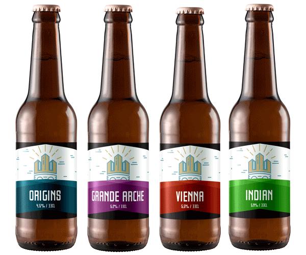 La gamme des bières Petite Couronne